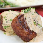 Filet Mignon with Goat Cheese Sauce