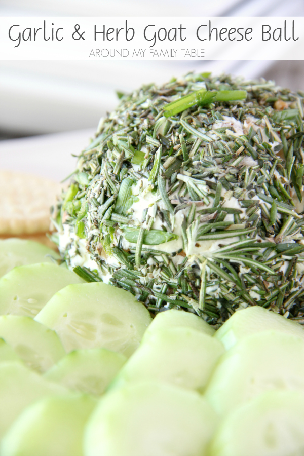 This Garlic & Herb Goat Cheese Ball comes together in less than 10 minutes plus it's delicious and will impress your guests.