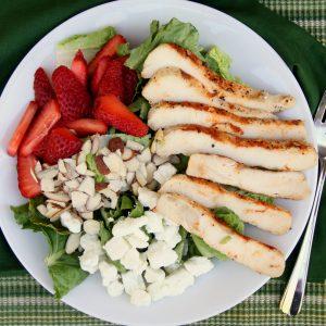 Strawberry Almond Chicken Salad