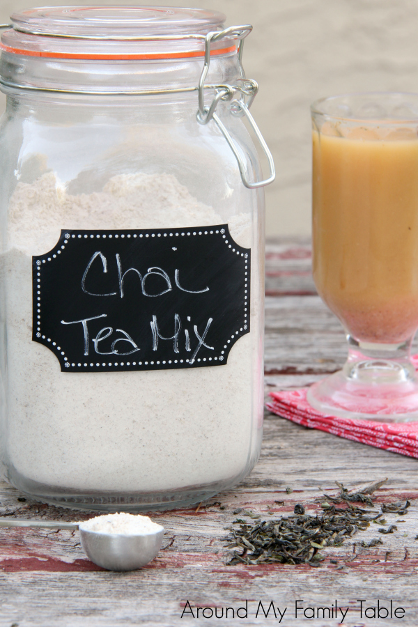 Keep a jar of Chai Tea Mix in the pantry for quick drinks. It makes a nice gift for the holidays, housewarming, or whenever you need to throw together an easy gift.