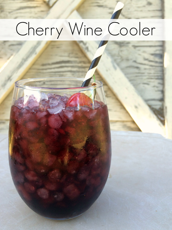The mix of sweet bubbly ginger ale and dry white wine are perfect to pair with the sweet yet tart dynamic of cherry juice in my Cherry Wine Cooler.