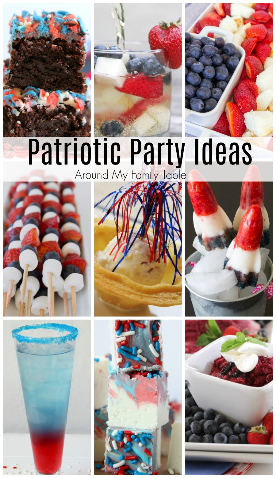 If you are gearing up for a big summer BBQ these Patriotic Party Ideas are sure to get you in the spirit. These red, white, & blue recipe ideas are perfect for any party where you want to show your patriotism.
