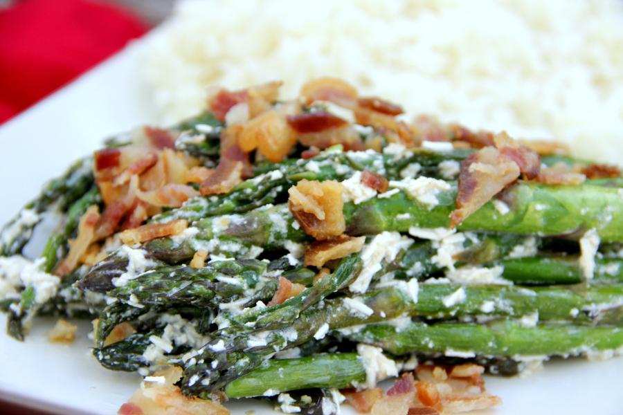 Asparagus Carbonara - Around My Family Table