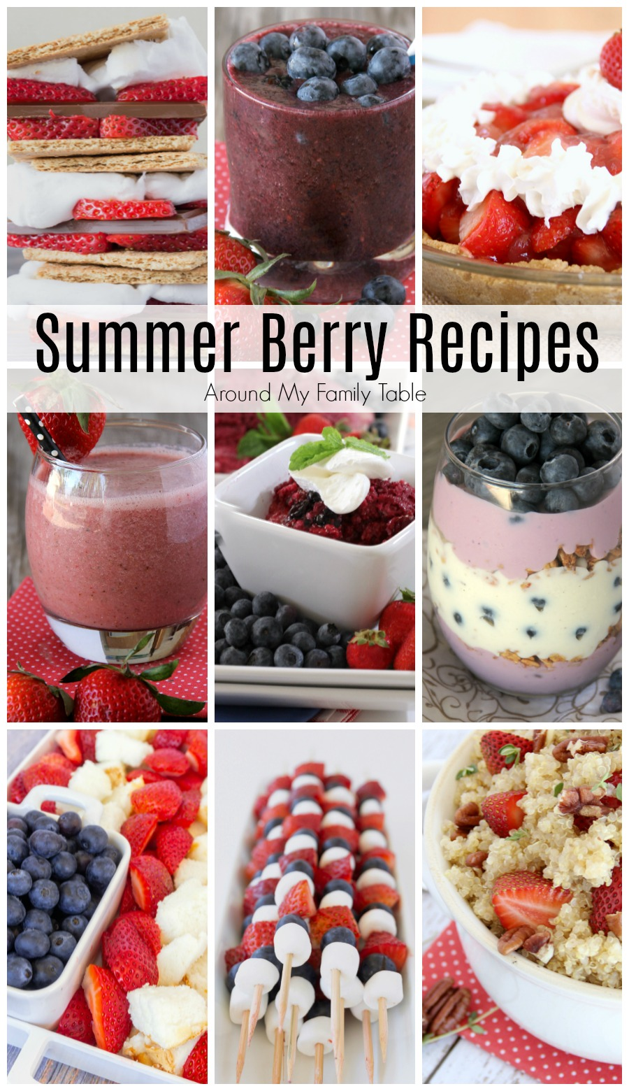 Summer is berry season!  I've got 33 delicious & easy Summer Berry Recipes that you have to try this year.
