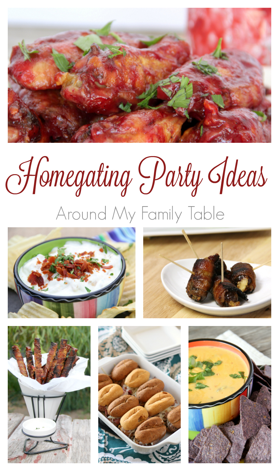 If you aren't heading out to catch the game at the stadium, then stay home and invite some friends over. These Homegating Party Ideas will keep your guests full and happy for the whole game.