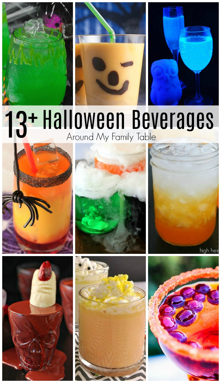 Halloween is almost here, and it's time to celebrate with over 13 Halloween Beverage Recipes that are perfect to punch up your party!