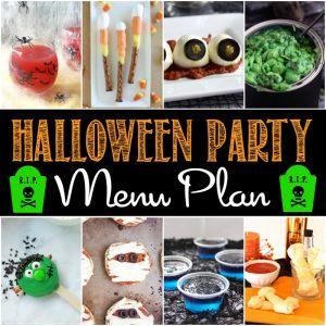 Spooky Halloween Party Menu
