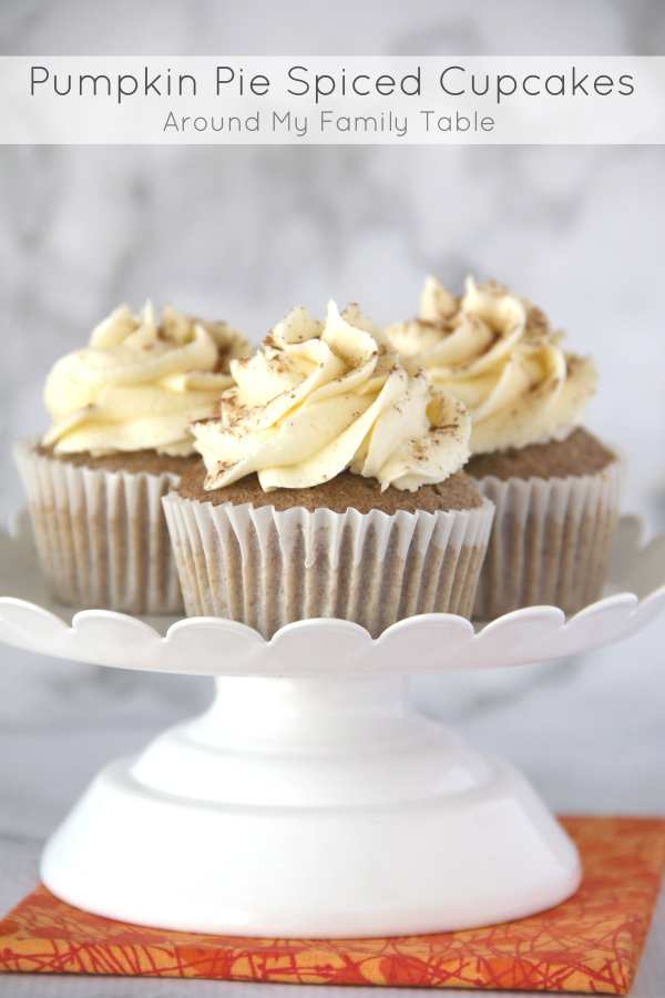 These delicious Pumpkin Pie Spiced Cupcakes are sure to be hit this ...