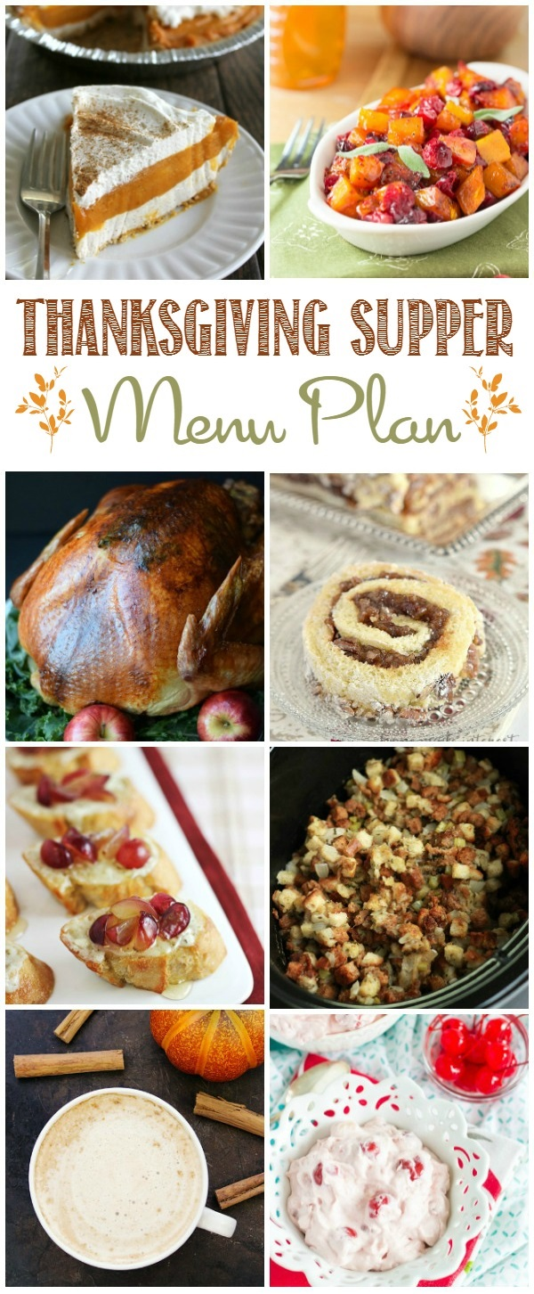 This delicious Thanksgiving Supper Menu is just what you need to host a successful Thanksgiving dinner.