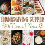 Delicious Thanksgiving Supper Menu