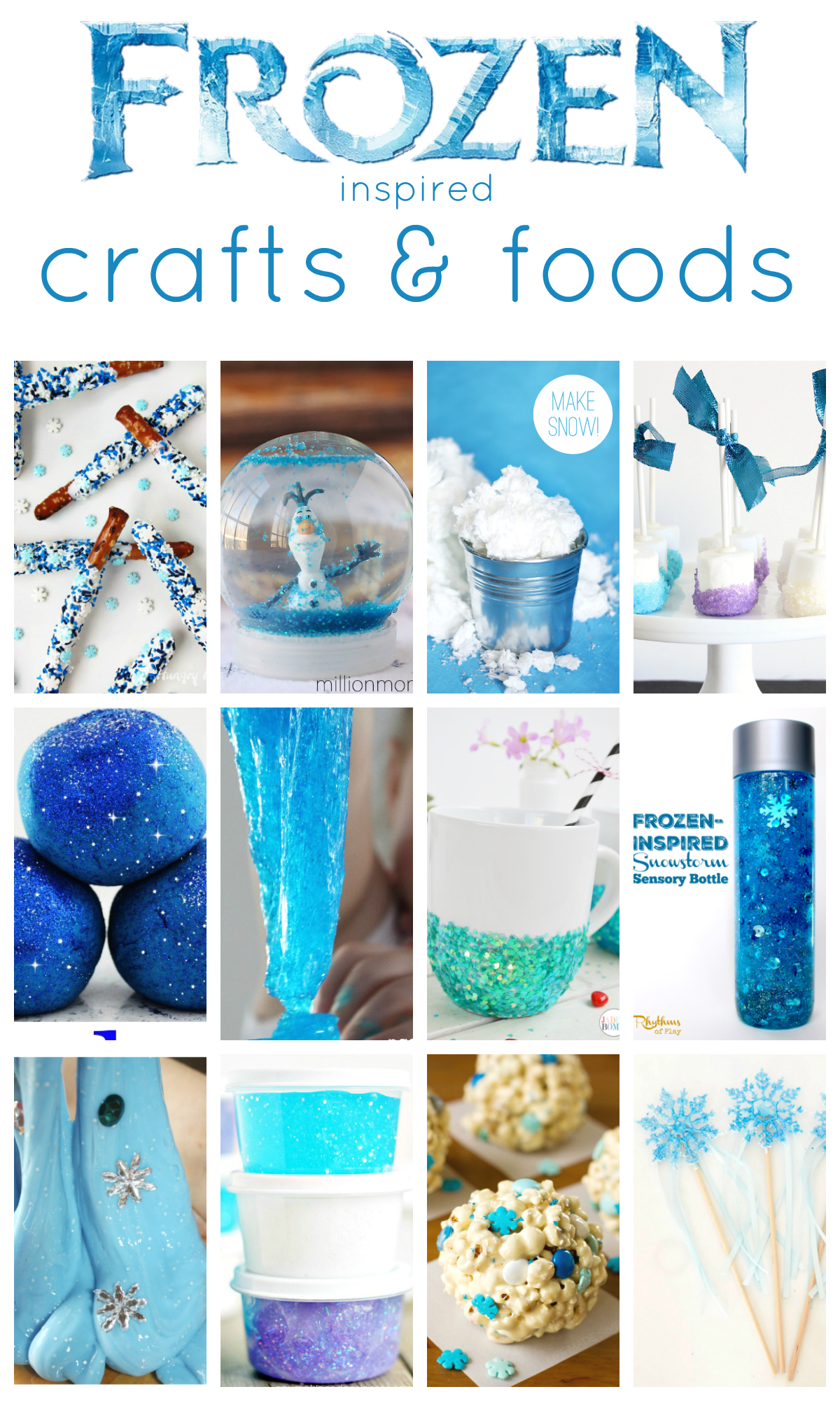 These 20+ Frozen Inspired Crafts & Foods are perfect for any Disney Frozen party.