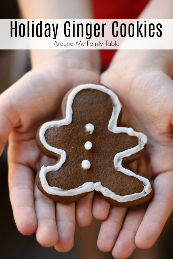 These Holiday Ginger Cookies are perfect for any holiday party or cookie exchange and are super easy to make too. #christmascookies #gingercookies #gingerbread via @slingmama
