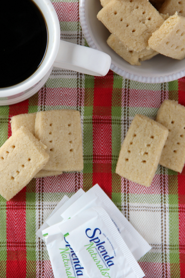 These gluten free Almond Shortbread Cookies are tender and perfect with a cup of coffee.
