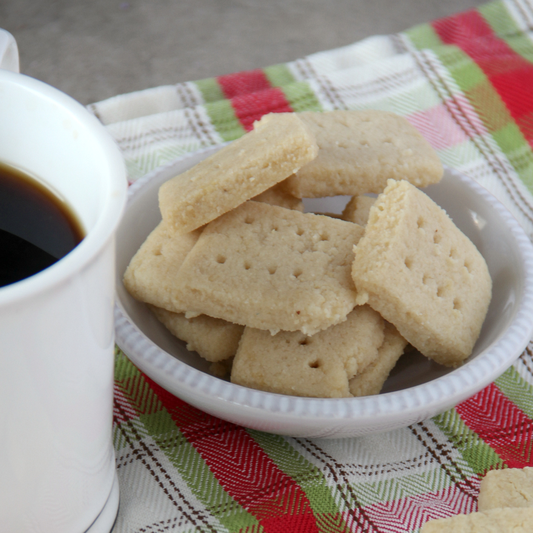 Almond Shortbread Cookies - Around My Family Table