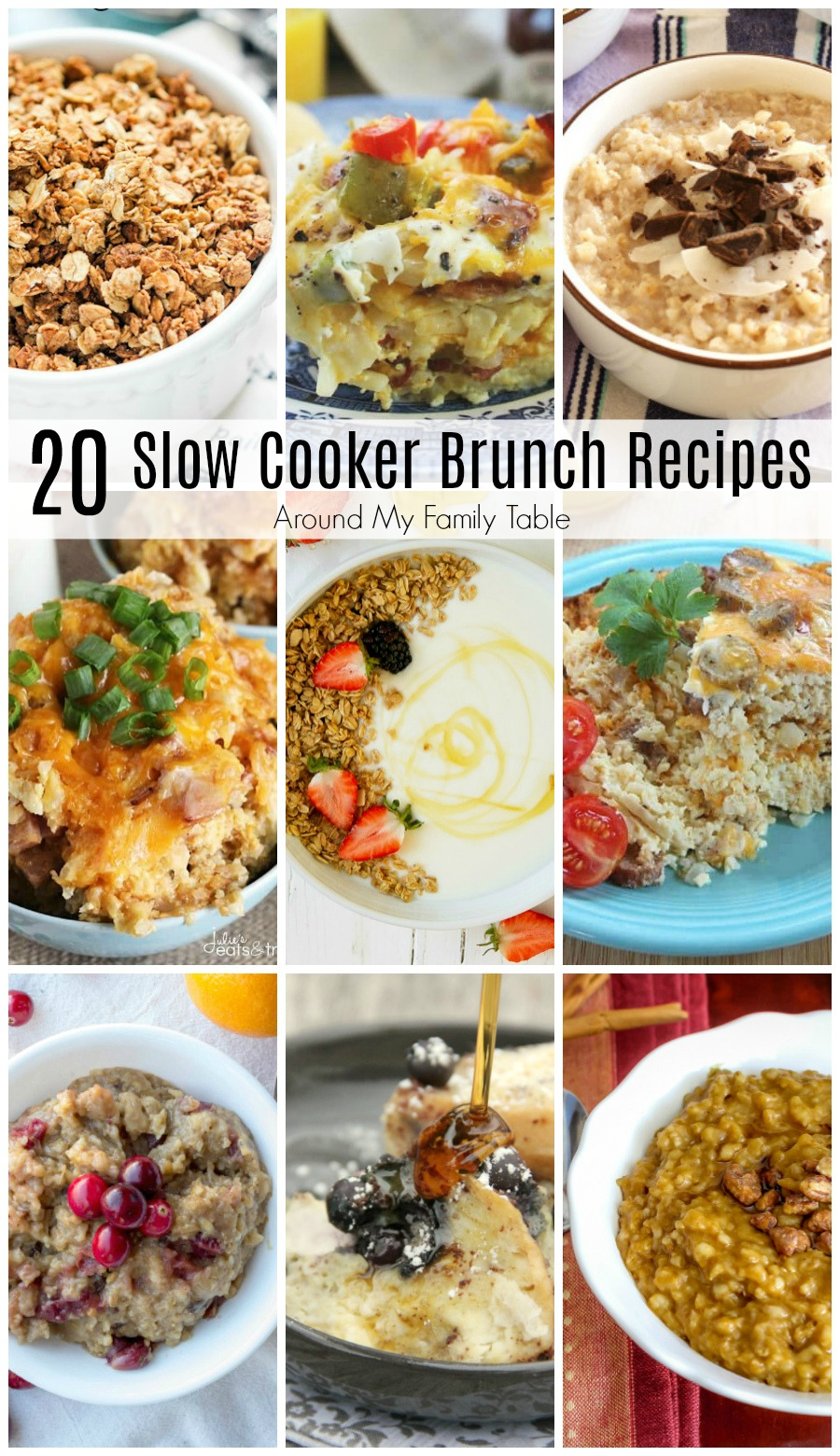 Slow cooker brunch recipes are the perfect thing to make for a weekend brunch! These crock pot recipes are easy to prep and they're absolutely delicious too! via @slingmama