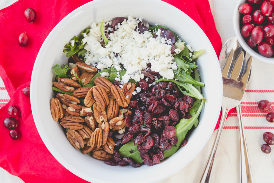 This delicious winter Cranberry Pecan & Goat Cheese Salad is just what you need to eat healthy without feeling deprived.