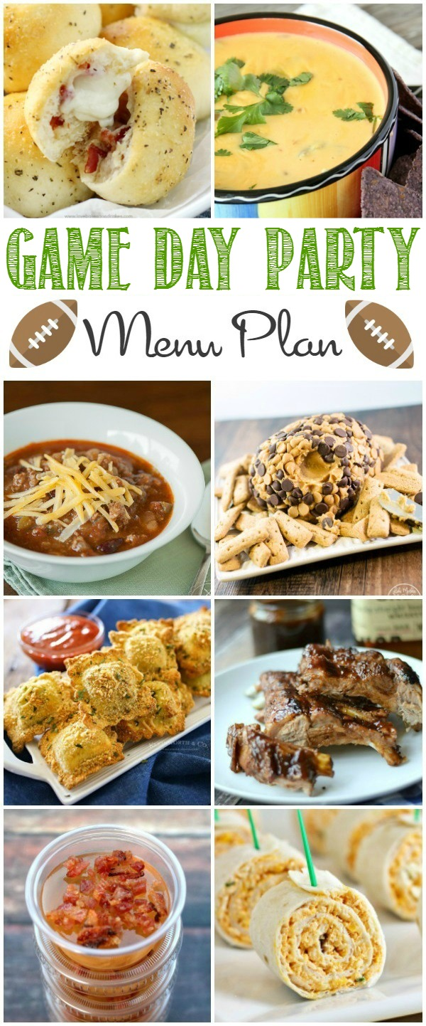 This Game Day Menu Plan is all you need to throw a killer party for the big game!