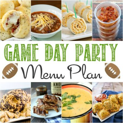 Game Day Menu Plan