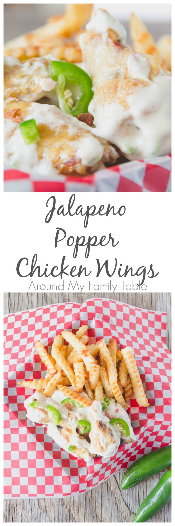 What happens when you have a love of chicken wings and jalapeno poppers? You make Jalapeno Popper Chicken Wings!