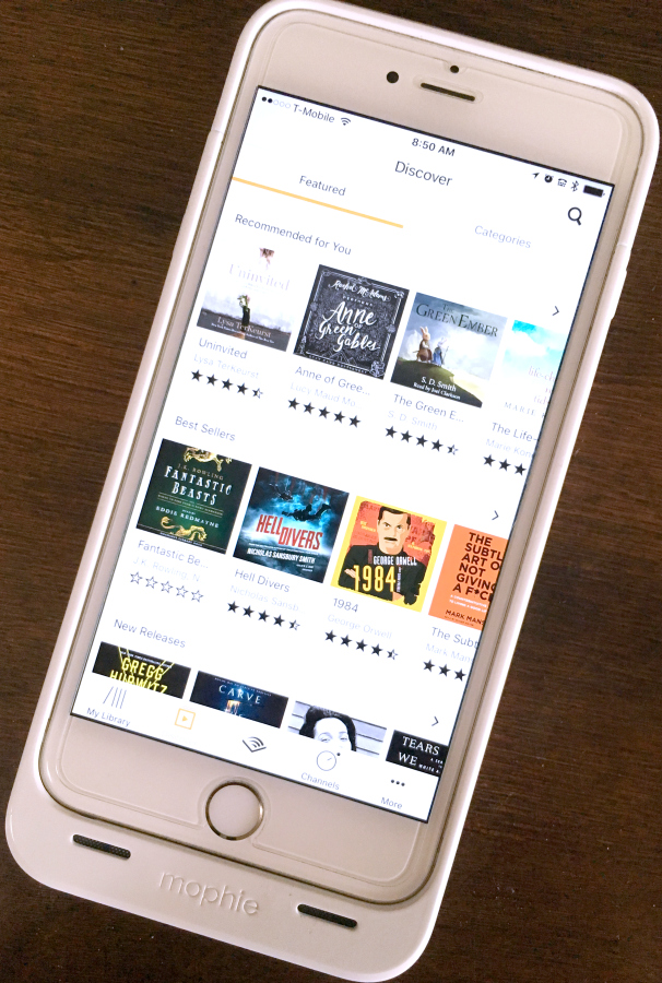 audible audiobooks on iPhone