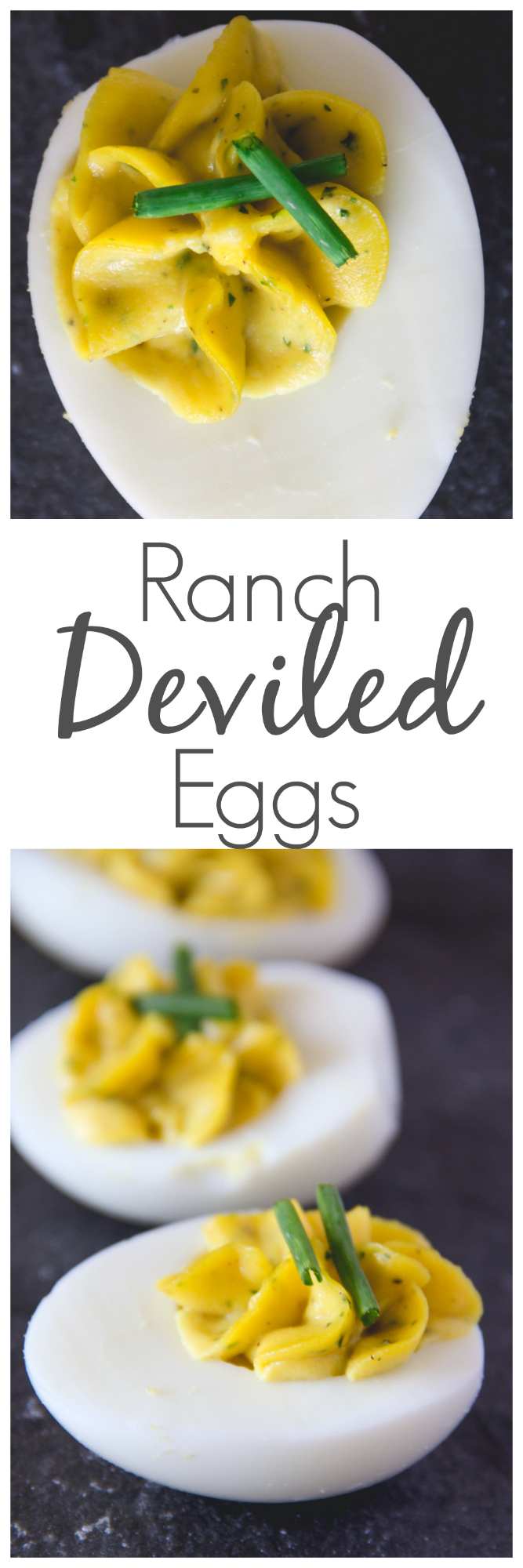 Add these Ranch Deviled Eggs to your holiday spread. Your family will thank you! They are filled with all the flavors you love plus a hint of ranch seasoning.