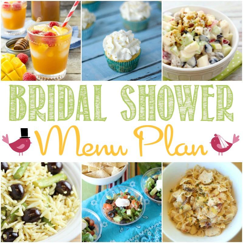 bridal shower menu plan around my family table