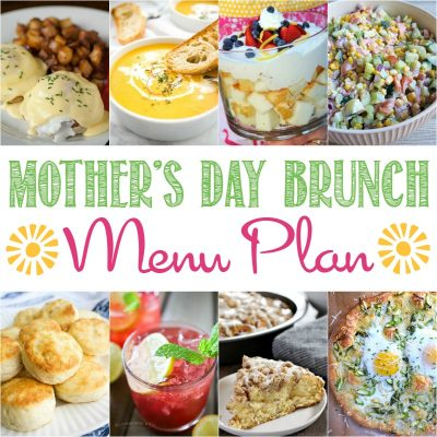 I've put together a simple and delicious Mother's Day Menu Plan this month. It will be perfect for a casual gathering or even a formal brunch with the whole extended family!