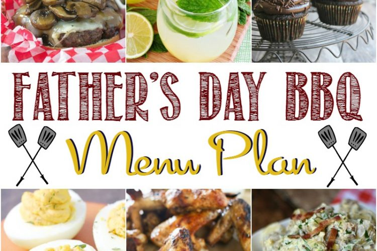 Collage of BBQ recipes for Father's Day