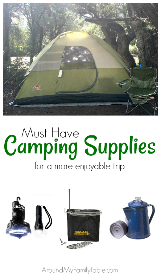 Make your next family camping trip more enjoyable for all with these Must Have Camping Supplies.