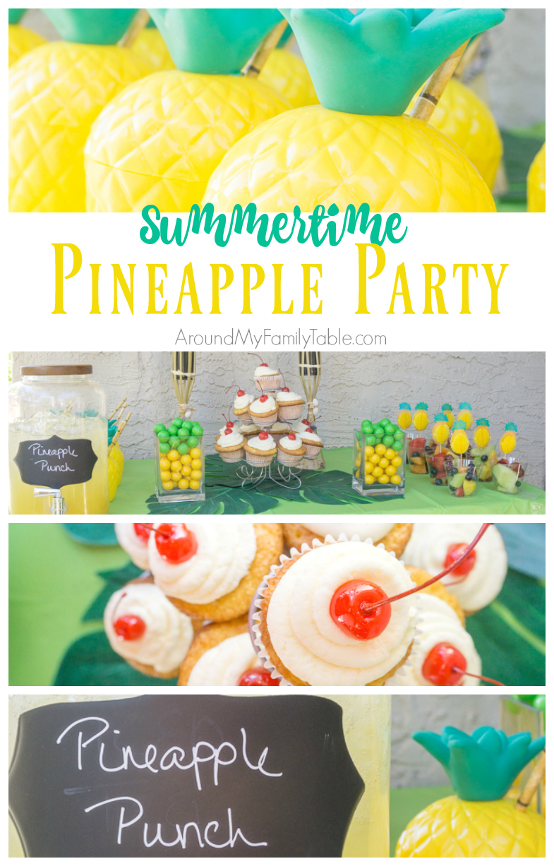 This Summertime Pineapple Party is such a fun, simple party idea & a perfect way to kickoff summer.