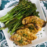 Grilled Chicken with Mustard Maple Glaze