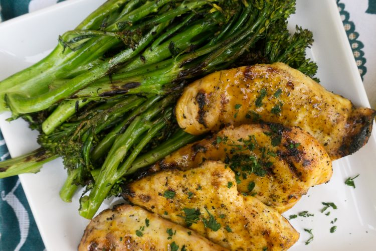 Grilled Chicken with Mustard Maple Glaze