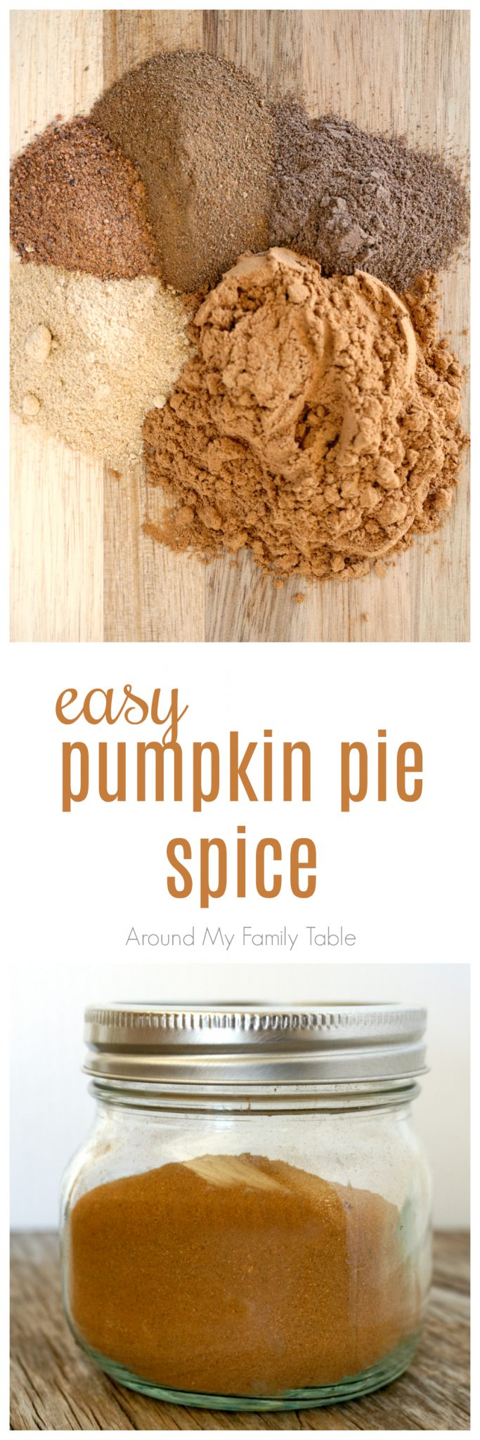 Don't get caught without Pumpkin Pie Spice this holiday season. You can make up this easy Pumpkin Pie Spice Recipe in small batches (or big ones) from spices you probably already have on hand.