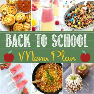 Back to School Party Menu