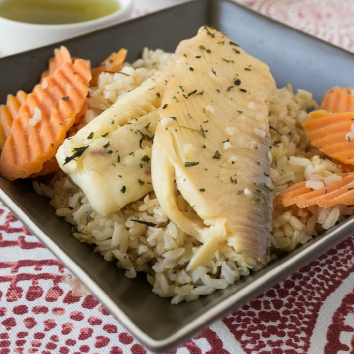 green tea poached tilapia