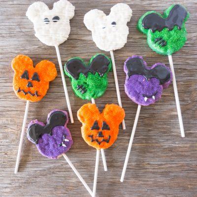 Homemade Disney Halloween Mickey Crispy Treats