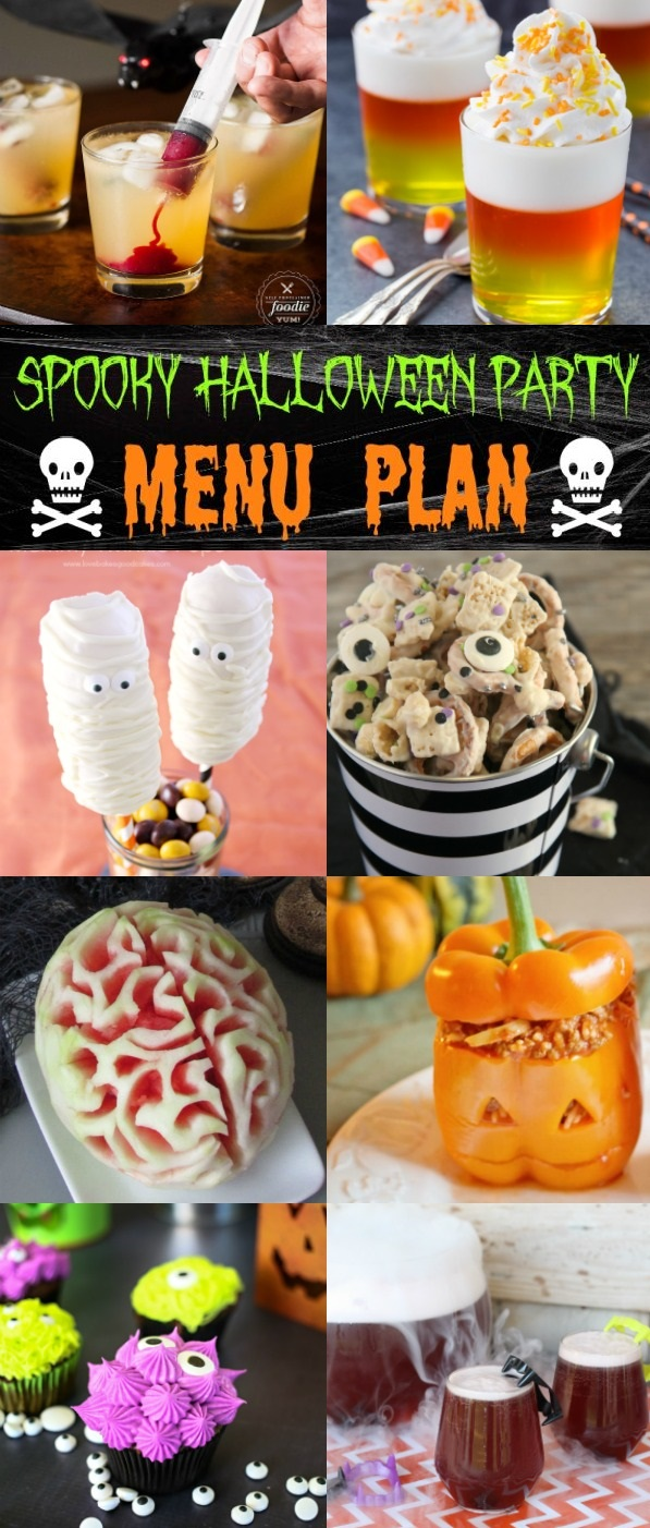 It's October and that means it's Halloween time!!! Kick your Halloween party up a notch with this Spooky Halloween Party Menu.