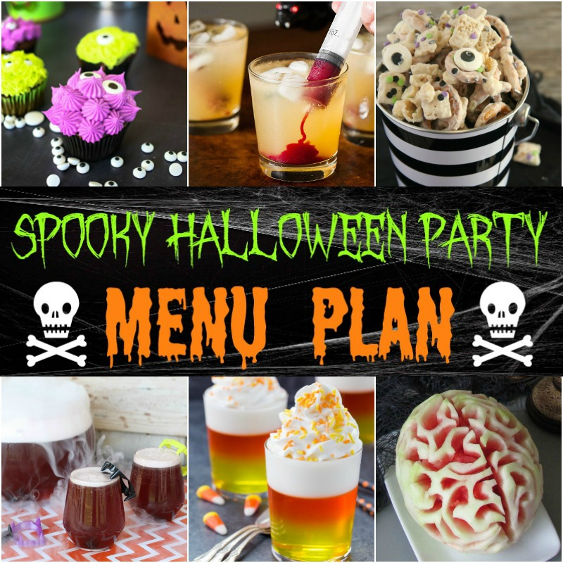 spooky halloween party menu around my family table