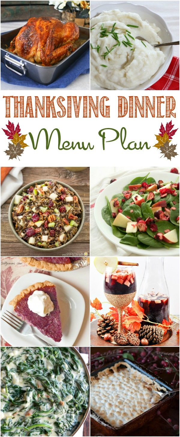 A delicious Thanksgiving Dinner is right at your fingertips with this Thanksgiving Dinner menu plan.