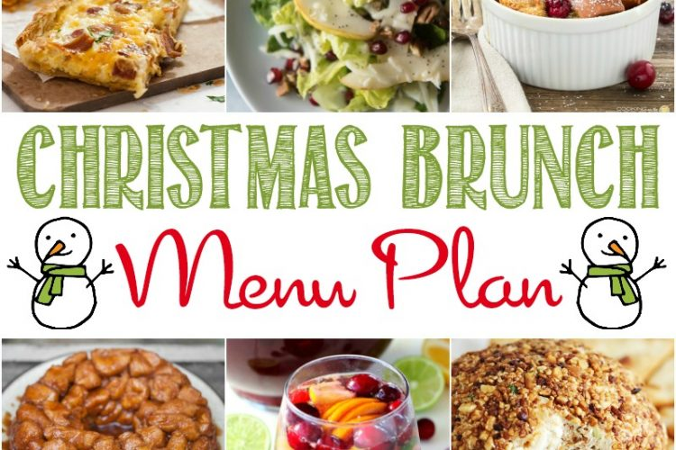 My Christmas Brunch Menu Plan will make planning for a big crowd easy and effortless!