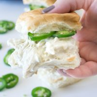 Slow Cooker Jalapeno Popper Sandwiches