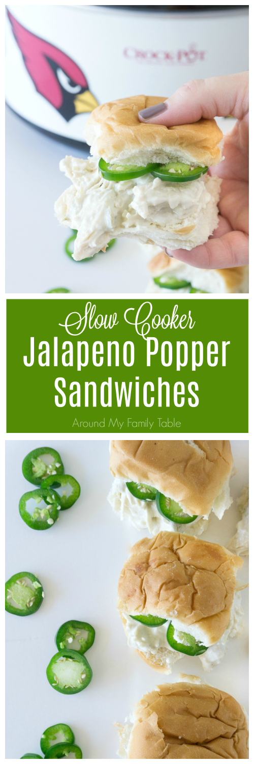 Loads of cream cheese and just the right amount of jalapeno will make these Slow Cooker Jalapeno Popper Sandwiches disappear before you know it!