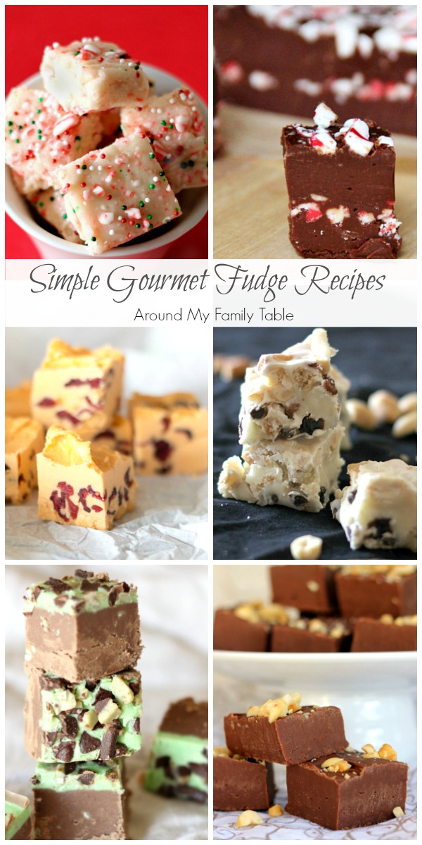 Gourmet simple fudge recipes photo collage