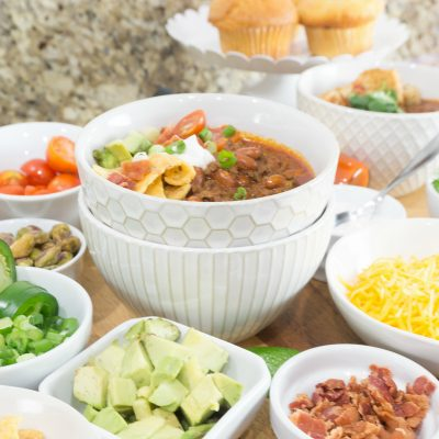 Instant Pot Chili Recipe & Chili Bar