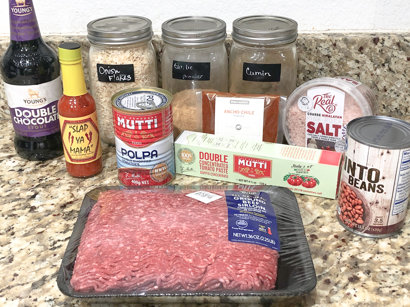 Ingredients for Instant Pot Chili