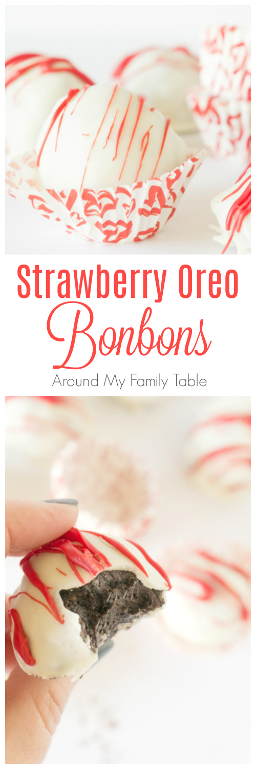 Change up your traditional Oreo BonBons!  My Strawberry Oreo BonBons are always a huge hit and they only have 3 ingredients! #oreos #oreobonbons #desserts #nobake