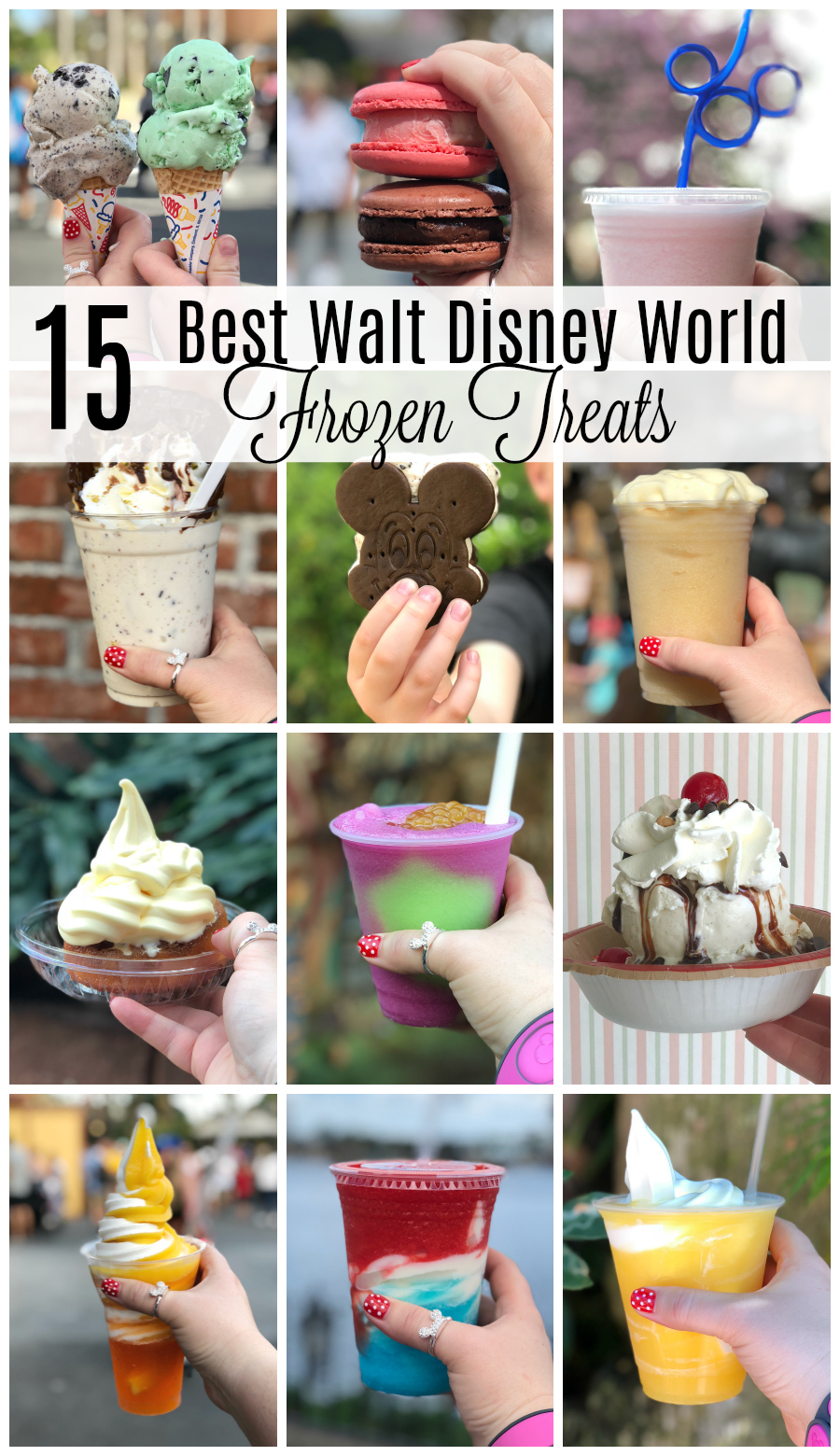 Best Walt Disney World Frozen Treats...you have to try these on your next #disneyvacation #disneyfood #disneyworld #waltdisneyworld