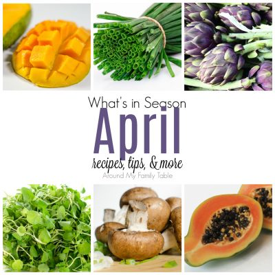 This April -- What's In Season Guide is full of tips and recipes to inspire you to shop and eat seasonally. April Seasonal Produce is full of greens and lots of fruits.