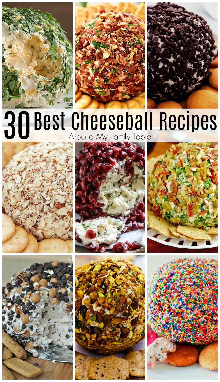 30 of the best cheeseball recipes, from appetizers to desserts, that are all you'll need for the perfect dish for your next party. #cheeseball