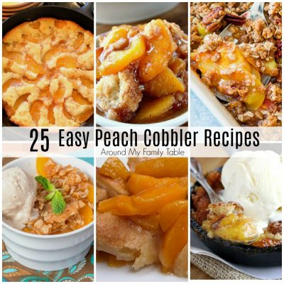 Peach cobbler is one of my favorite desserts of all time. It reminds me of happy family reunions. It reminds me of the simple, carefree summers of my childhood.  I can't wait to  try all these Easy Peach Cobbler recipes this summer!